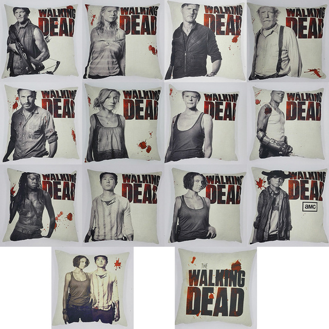 The Walking Dead Character Pillowcases