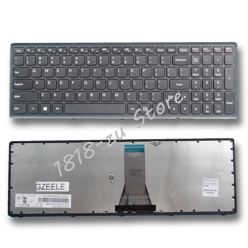 YALUZU  English New Laptop Keyboard For LENOVO G500S G505S S500  S510P Z510 Z505 US Replacement NOTEBOOK Keyboard BLACK