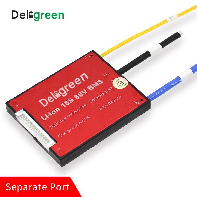 10 pcs/un lot 16 s 60A 48 v PCM/PCB/BMS pour 3.7 v batterie au lithium pack 18650 Lithion LiNCM Li-Polymère Scooter