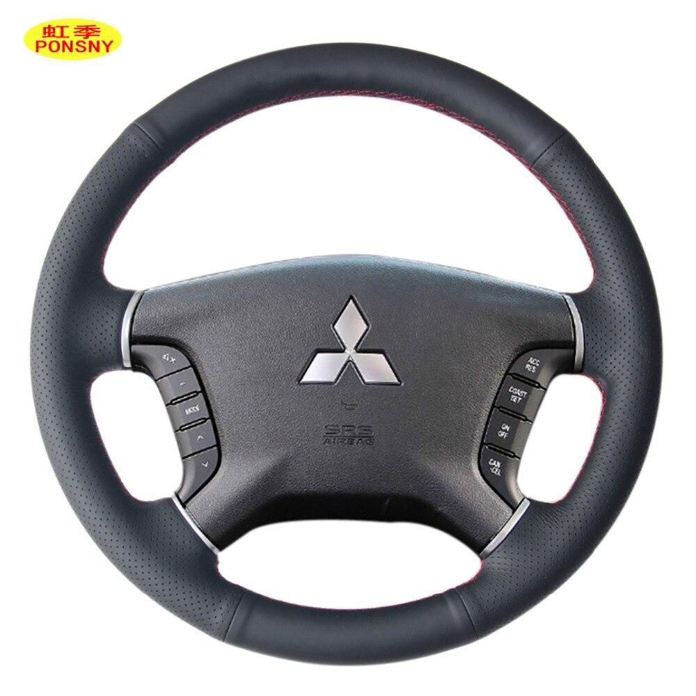 Housse de protection en cuir véritable PONSNY pour Mitsubishi Pajero couvre-roue Auto cousu main