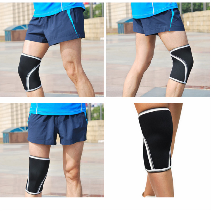 Athletics Weightlifting Non Slip Compression Knee Sleeves 1 Pair 7mm Great Support Effective Relief from Muscle Pain Fatigue