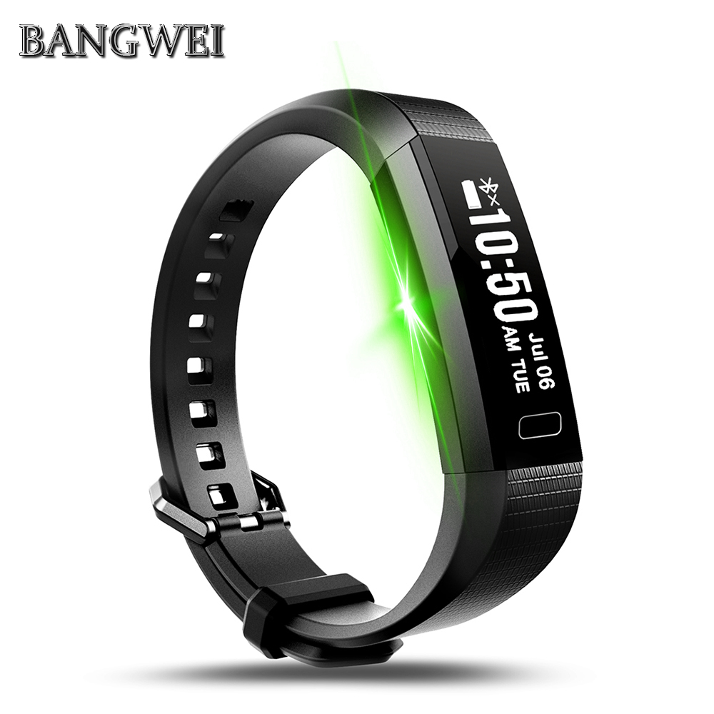 BANGWEI Smart Watch Blood Pressure Watch Blood Oxygen Heart Rate Monitor Smart Watch Pedometer Smart Watch VS Millet Mi Band 2 merlin smart watch m60