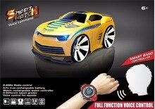 2017 Nova Voz Ativado carro de Controle Remoto RC Carro com relógio inteligente brinquedo do carro de brinquedo de controle de voz com LED head light 48400 vs 48500