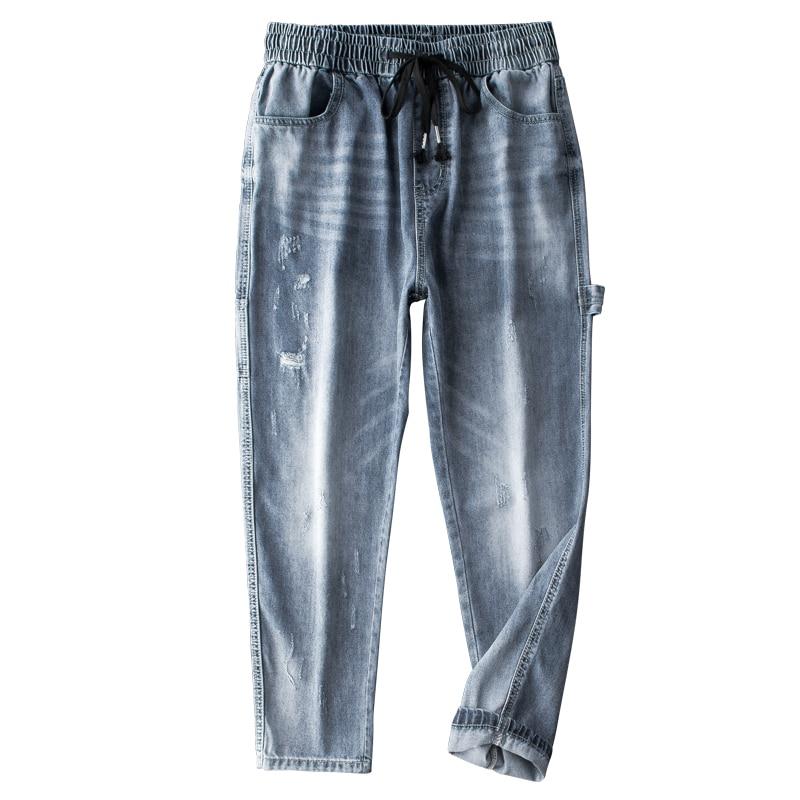 UNCLEDONJM 2019 Men 39 s Casual Jeans Pants Autumn Denim Cotton Vintage Wash Hip Hop Work Trousers Jeans Pants Streetwear 510W in Jeans from Men 39 s Clothing