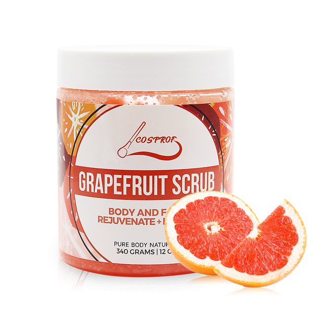 Grapefruit Scrub Body Scrub Cream Facial Dead Sea Salt For Exfoliating Whitening Moisturizing Anti Cellulite Treatment Acne