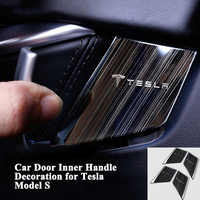 1set Fashion Car Inside Door Handle Decoration Cover Stainless Steel Sticker Styling Car Accessories for Tesla Model S 2014 2018