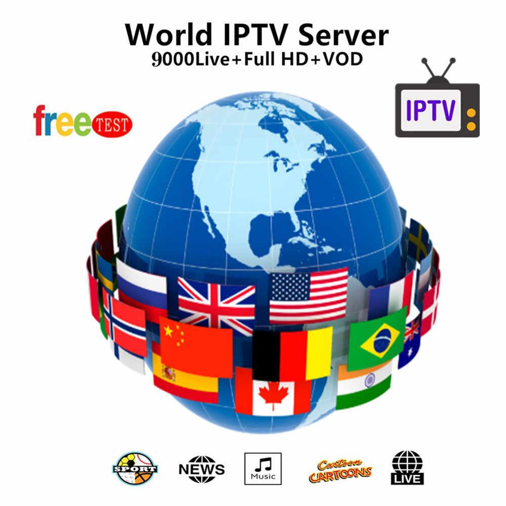 Europe IPTV Subscription France UK German Arabic Dutch Sweden Spain  Poland Portugal USA Smart TV IPTV M3U 9000 Live