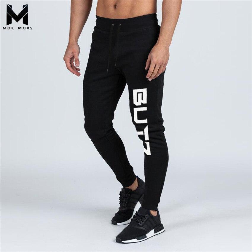 Men's New High Street Jogger Sportswear Slim Mens Joggers Fashion Brand Men's New BUTZ Printing Cotton Low Waist Men Pants