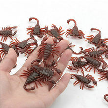 Halloween Trick Fun Novelty Funny Gadgets Blague Toy Simulation False Scorpion Action Figures Toys Mini Children Gifts(China)