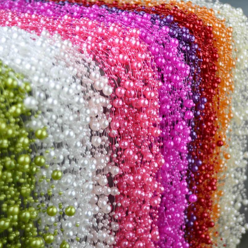 5 メートル釣り糸人工真珠ビーズチェーン花輪花ブライダルティアラウェディングデコレーションイベントパーティー用品