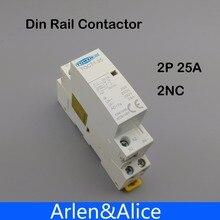 TOCT1 Американская классификация проводов 2р 25A 2NC 220 V/230 V 50/60HZ Din rail бытовой ac Контактор В соответствии с стандартом два нормально закрытый