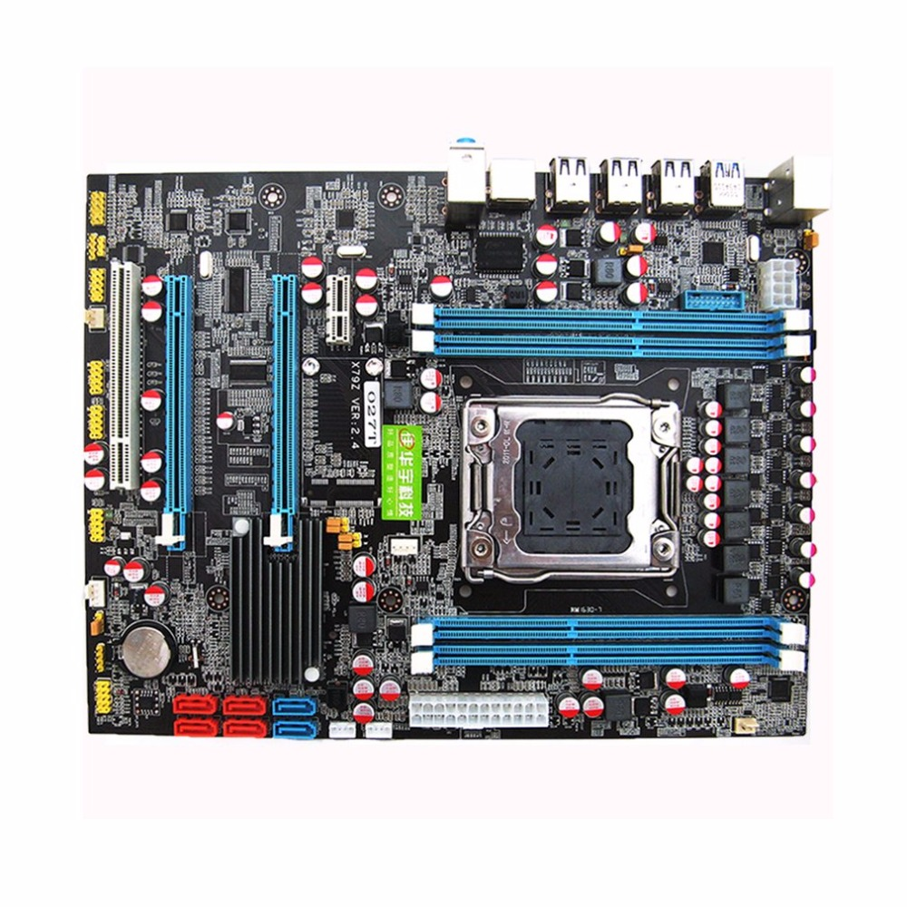 X79 Motherboard CPU RAM Combos LGA2011 REG ECC C2 Memory 16G DDR3 4 Channels Support E5-2670 I7 Six And Eight Core CPU Hot Sale original e5 2670 cpu 20m cache 2 60 ghz 8 00 gt s intelqpi ga 2011 srokx c2 suitable x79 motherboard