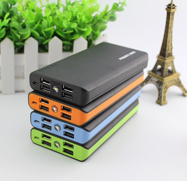 4-usb dcae nuevo banco de la energía 15000 mah cargador de batería de reserva externo para el iphone samsung cargador de teléfono universal