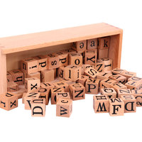 Montessori Toys For 3 Year Olds Montessori Movable Alphabet Cube Learning Educational Toys for Kids Juguetes Brinquedos MI2744H