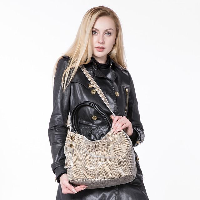 Realer woman handbags genuine leather bag female hobos shoulder crossbody bags high quality leather totes women messenger bag 2