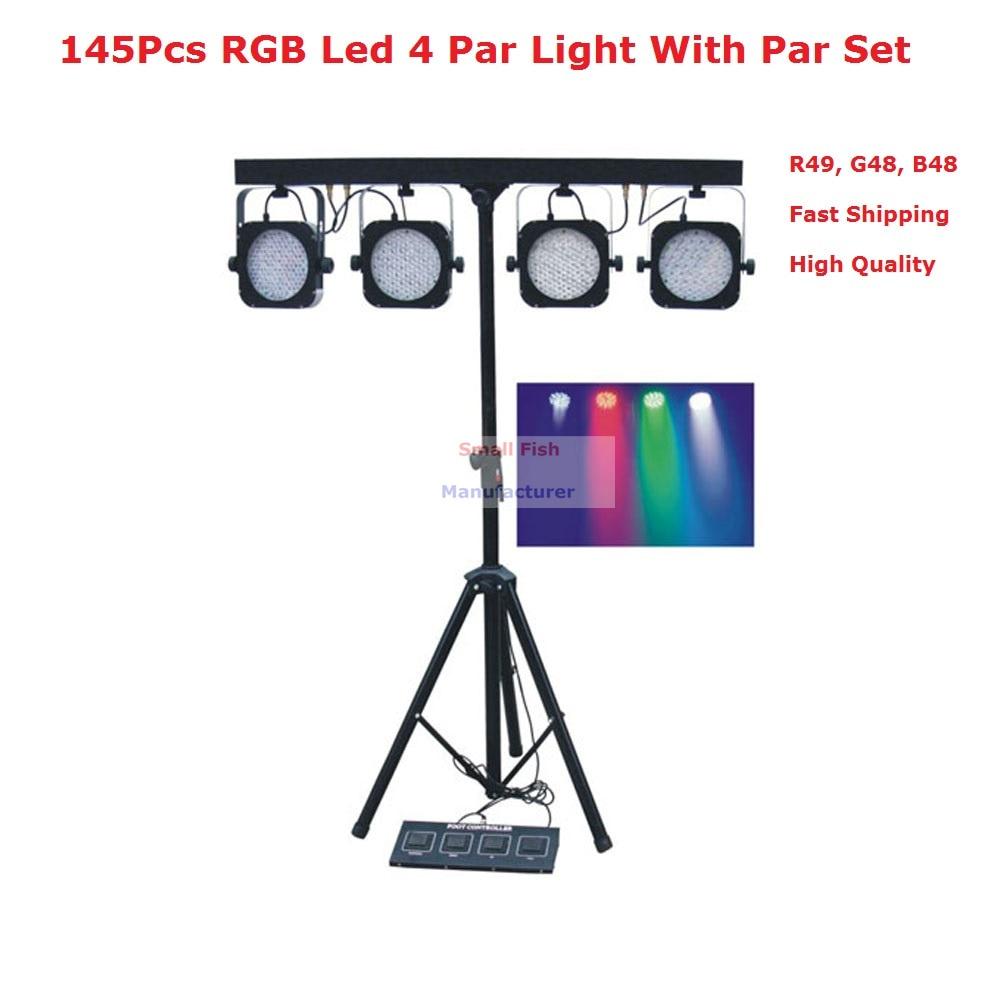 1Pcs/Lot Led Par Kits Newest 80W LED Flat Par Lights With Light Stand And DMX Controller For Professional Stage Dj Disco Shows