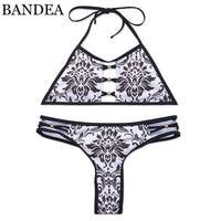 BANDEA bikini kadınlar mayo seksi hayvan baskı mayo halter bikini brezilyalı mayo tanga alt biquini 2017 kesip