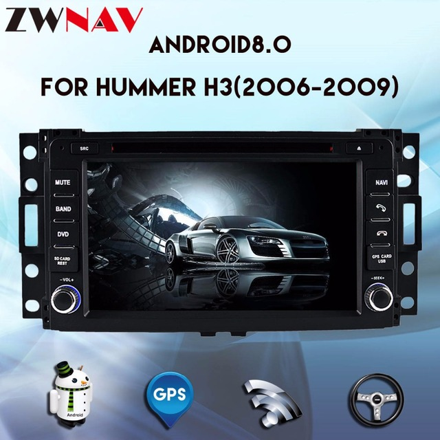 US $445 33 20% OFF|Android 8 0 4G RAM Car DVD Stereo Headunit For Hummer H3  2006 2007 2008 2009 car multimedia player Auto radio GPS Navigation -in