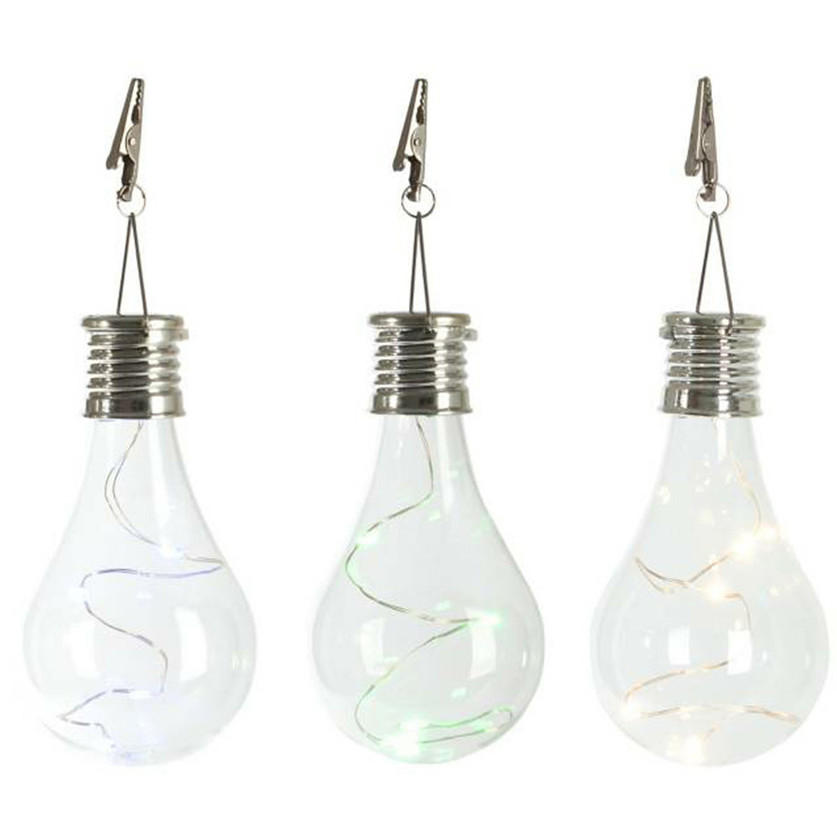 100 Brand New Solar Light Bulb Waterproof Solar Rotatable Outdoor Garden Camping Hanging LED Light Lamp Bulb Warm White Hot in Wind Chimes Hanging Decorations from Home Garden