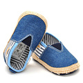 Spring Baby Shoes Boys Girls First Walker stripe Fashion Casual canvas Cribs High Quality Shoe blue 2017 Hot Sale Baby Kids Gift
