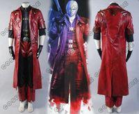 DMC Devil May Cry 4 Cosplay Costume Dante Cosplay Costume Cloak Full Set Halloween Carnival Adult