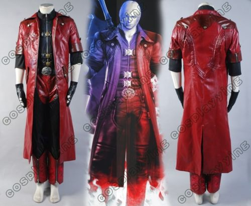 DMC Devil May Cry 4 Cosplay Costume Dante Cosplay Costume Cloak Full Set Halloween Carnival Adult Custom Made