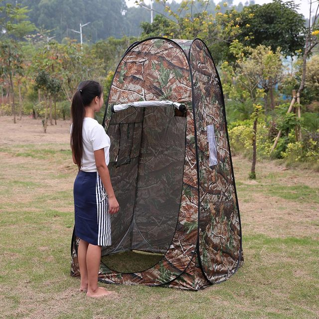 Shower Tent Outdoor Toilet Tent Automatic Open Tent C&ing Tent Pop Up Tent Privacy Changing Bath Shelter Fitting Room with Bag : outdoor toilet tent - memphite.com