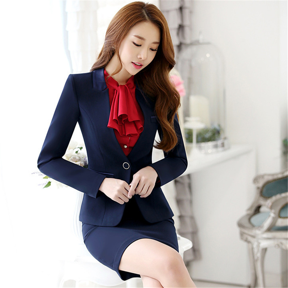 9c87798efa14f 2019 New Formal Women Business Suits L size Blazer+Pant autumn Winter women  set Fashion Ladies Work Office Uniforms-in Women's Sets from Women's  Clothing on ...