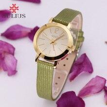 Julius Lady Women's Watch Japan Quartz Hour Clock Simple Classic Fashion Leather Clock Multicolors Casual Girl Gift Box 732