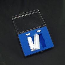 2 개의 뚜껑이있는 석영 큐벳 상자가있는 10mm 셀 큐벳