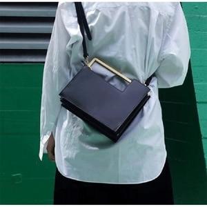 Image 3 - Mode métal poignée boîte Type femmes sacs à main conception dorgue Pu femmes sacs à bandoulière de luxe messager sac à bandoulière dames fourre tout