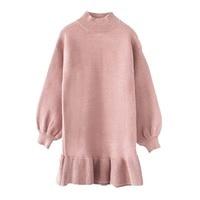 Toddler Girl Knit Dresses Mermaid Dress For Kids Girls Sweater Dress Autumn Long Sleeve Cotton knitted Wool Sweater Fall Dress