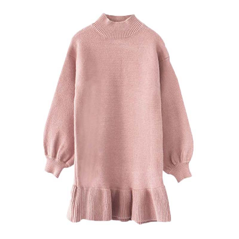 Toddler Girl Knit Dresses Mermaid Dress For Kids Girls Sweater Dress Autumn Long Sleeve Cotton knitted Wool Sweater Fall Dress kohuijoo autumn winter women sweater dress medium long 2018 korean warm knitted geometric dress half turtleneck long sleeve sexy