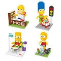 Simpsons Action Figures Cartoon Anime Characters Gift Toys Micro DIY 3D Bricks The Latest Style Present