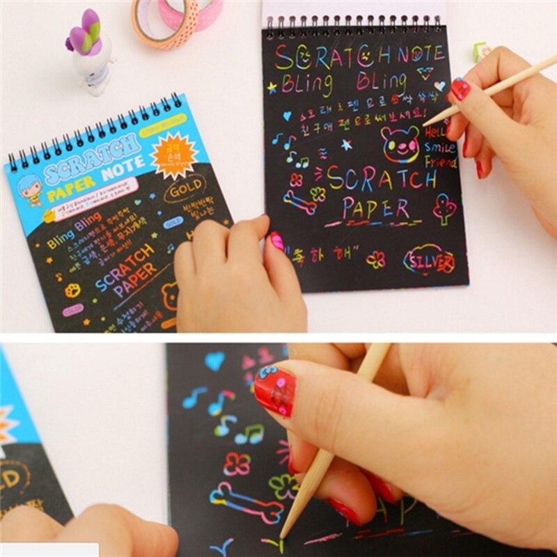 Забавная головоломка DIY рисовал Записки Живопись книги Дети образования Игрушки для рисования подарок для Для детей