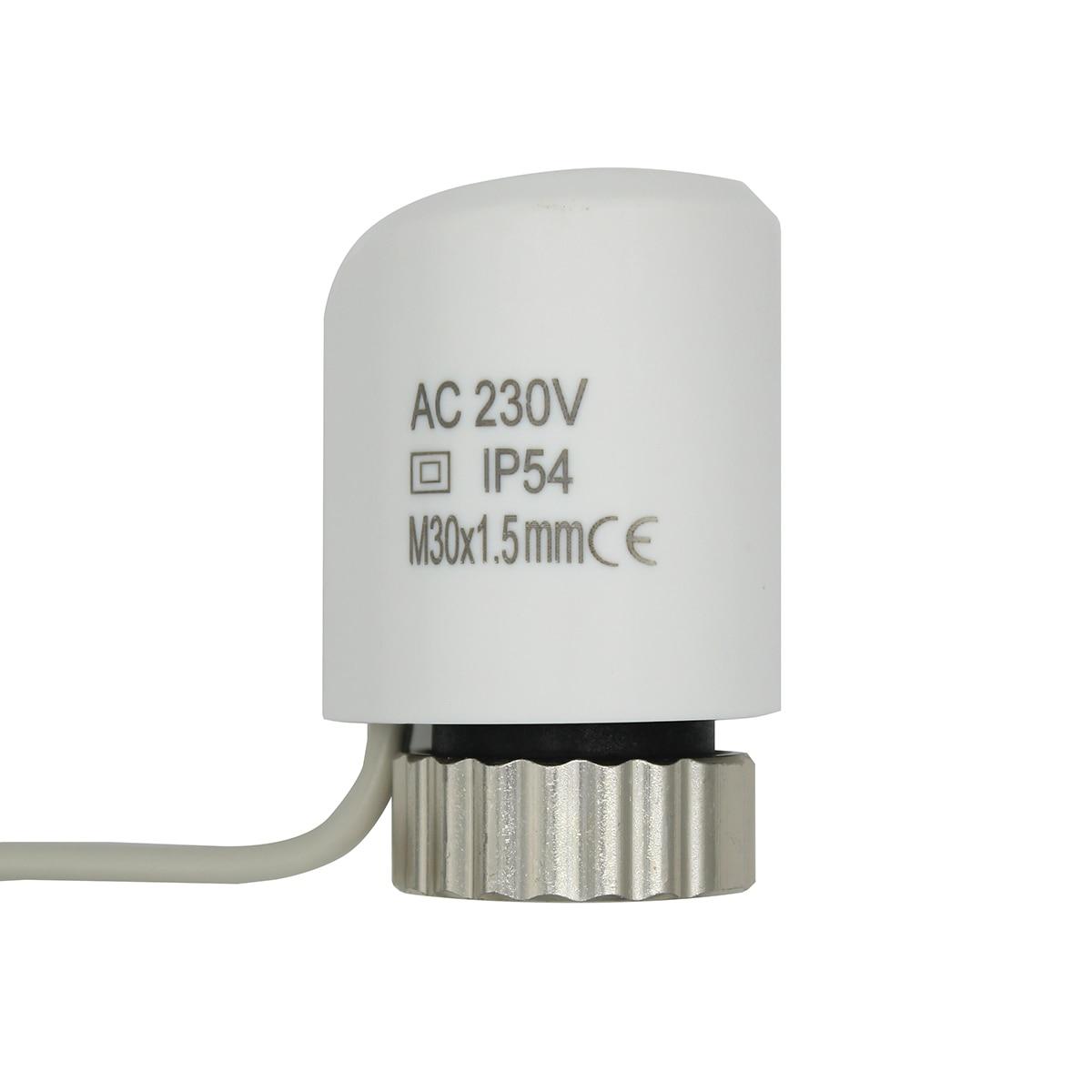 220 V NO NC elektrische thermische stellglied ventil kopf für thermostat verteiler fußbodenheizung kühler normalerweise geöffnet geschlossen