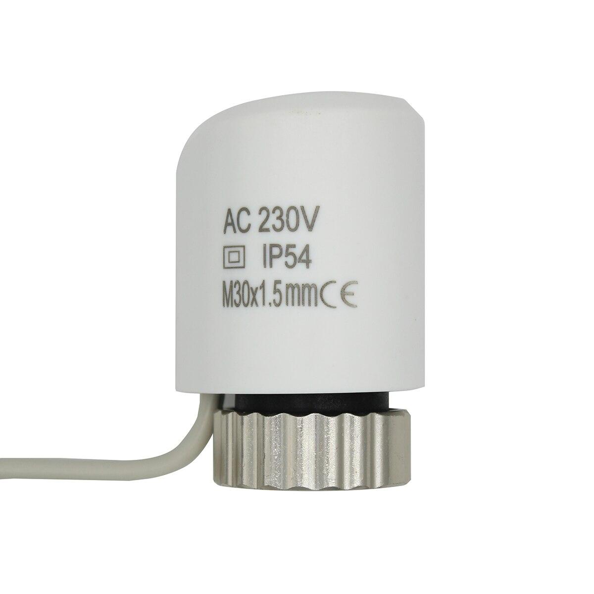 Cabezal de la válvula del actuador térmico eléctrico 220 V NO NC para el colector del termostato radiador de calefacción por suelo radiante normalmente abierto cerrado