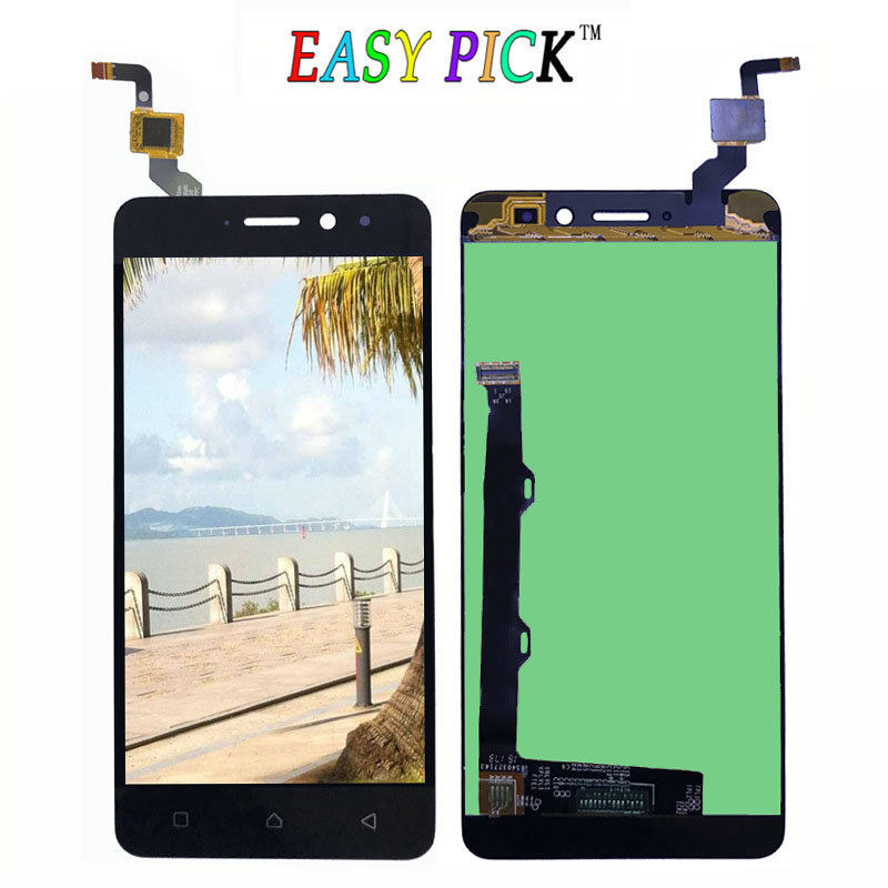 Black White For Lenovo K6 Power LCD Display Touch Screen Digitizer Assembly Replacement with frame