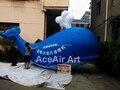 3.5 мл Индивидуальные Синий Надувной кит Надувные Рекламы Для Рекламы