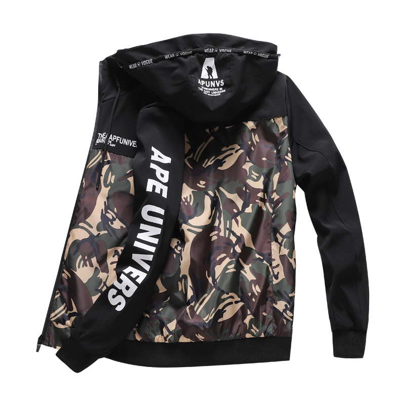 2018 New Men Jacket Spring Autumn Fashion Brand Slim Fit Coats Male Camouflage Baseball Bomber Jacket Mens Coat