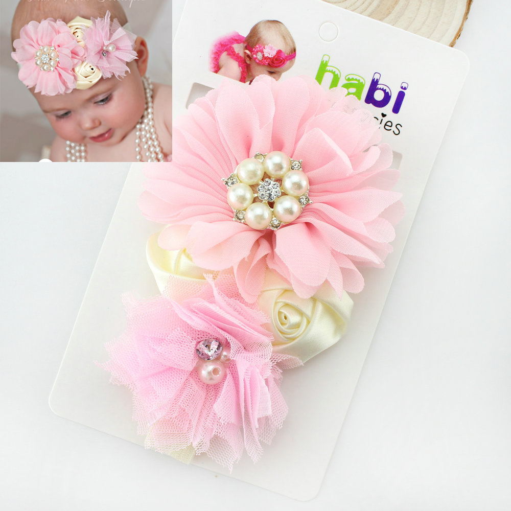 2016 Newest Design Baby Girl Flower Headband Hair Flower Band