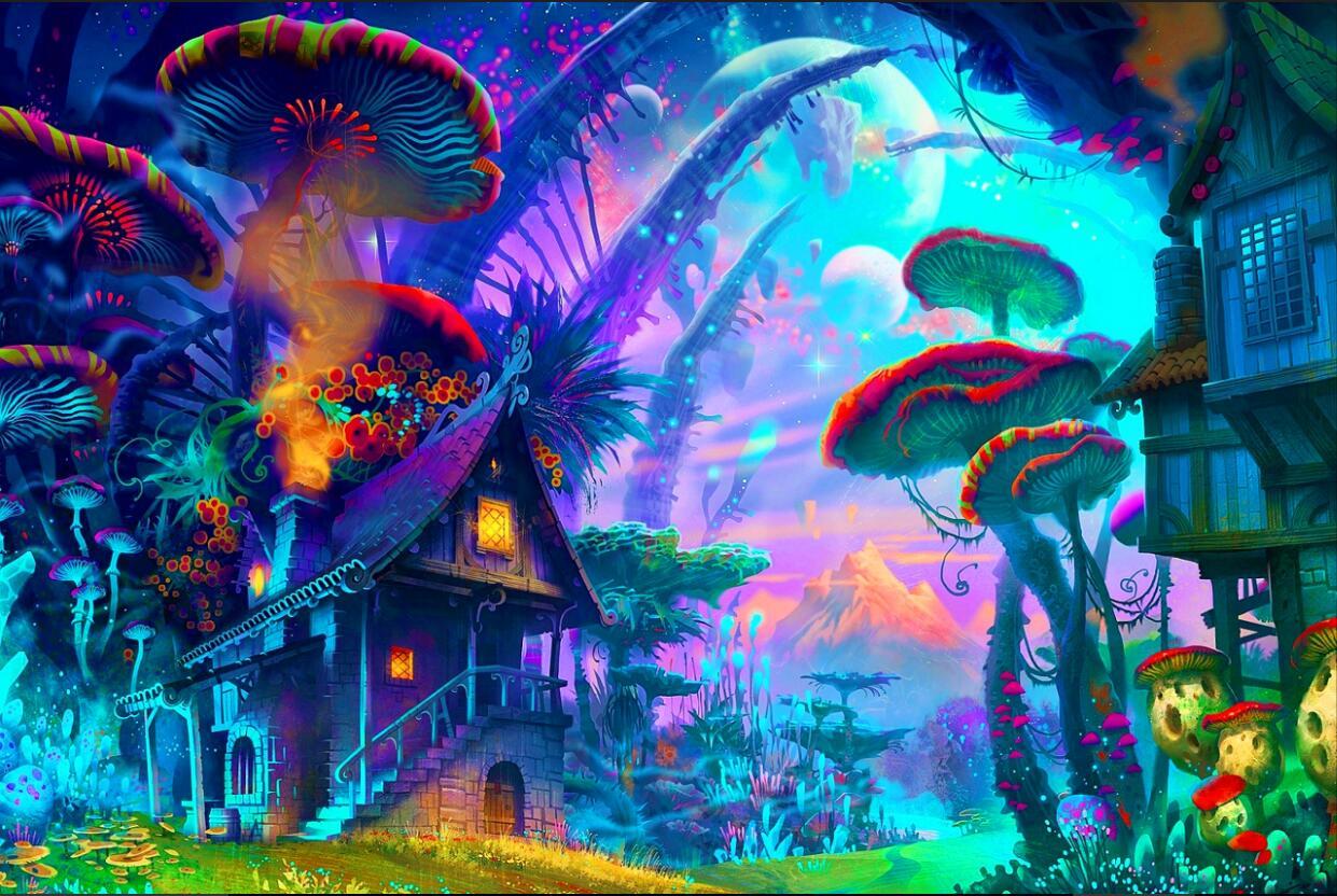diy rahmen psychedel trippy kunst poster und drucken home. Black Bedroom Furniture Sets. Home Design Ideas