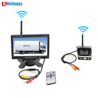 Auto Parking Assistance System 2.4 GHz Wireless Rear View Camera For Trucks And 7 inch Car Monitor Fit For Auto Truck Van Bus