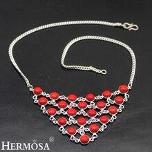 a81d3e6839ed Hermosos regalos de boda coral rojo natural 925 collar de plata de ley  colgante 16 pulgadas TF160 envío libre