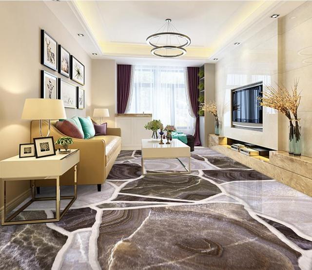 Custom Soundproof Wallpaper 3d Flooring Stone Floor Tile For Living Room  Bedroom Bathroom 3d Floor Painting