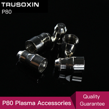 40 pcs cutter consumables extended Ni tips electrode gas ring and porcelain shiled cups for  inverter plasma torch PT31