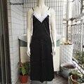 Longa Camisola Vestido de Renda Deslizamento de Cetim Sleepwear Lingerie Sexy Camisolas Camisola De Seda Artificial das Mulheres