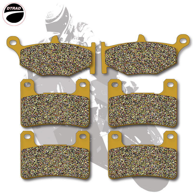 Motorcycle Brake Pads Front+Rear For SUZUKI GSXR 600 06-10 GSXR 750 06-10 GSXR 1000 07-08 GSX 1300 R Hayabusa 08-13 motorcycle brake pads front disks for suzuki gsx 750 fw fx fy fk1 fk6 katana 1998 2206 motorbike parts fa231