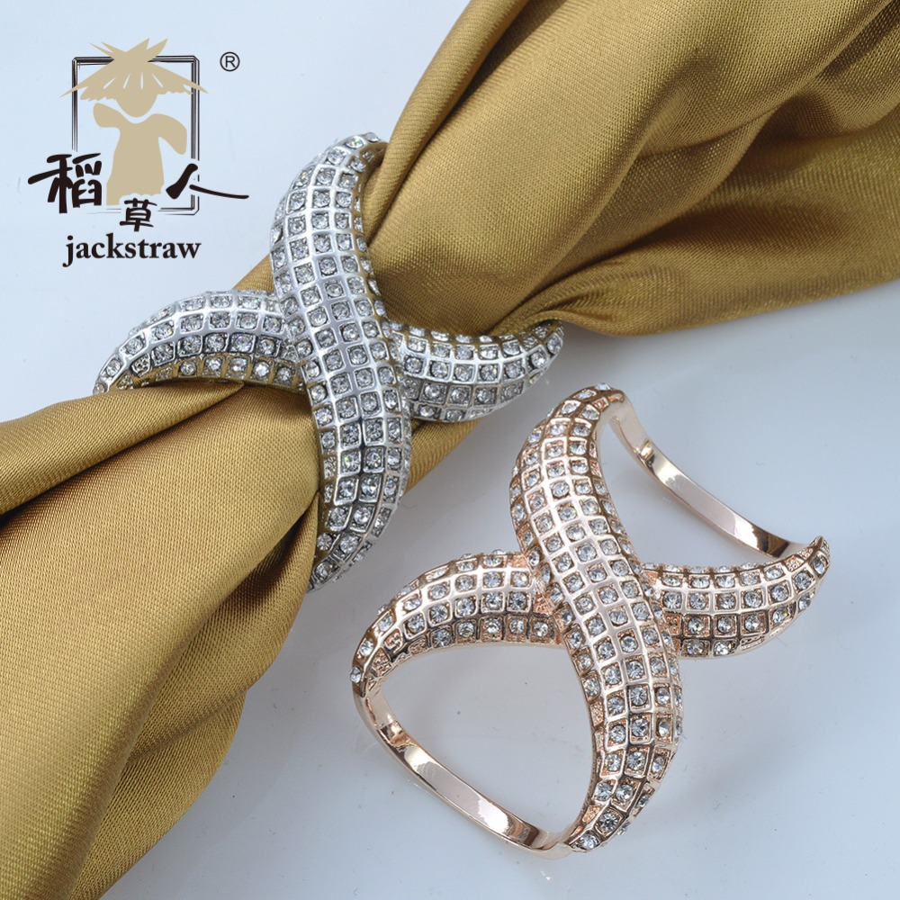 Jackstraw jewelry quality plating color crystal cylinder scarf buckle high-grade simple scarf clip Clothes hem decorative buckle