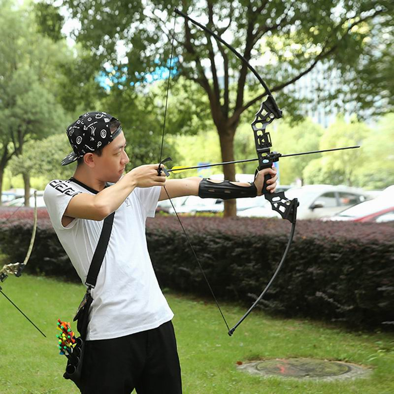 40Lbs Archery Take Down Recurve Bow Hunting Fishing Right Hand Longbow Arrow - 6